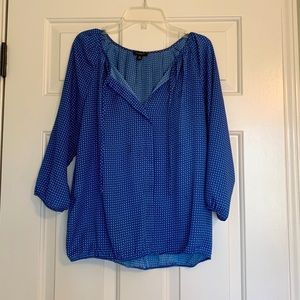 Ann Taylor blue blouse